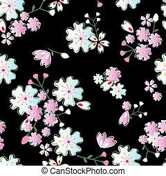 patrón, jpanese, flores