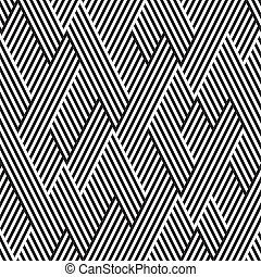 patrón, línea, negro, blanco, zigzag