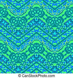 patrón, líneas, zigzag, mano, étnico, dibujado