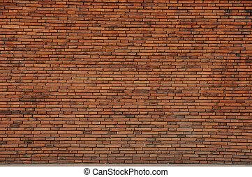 patrón, ladrillo, rojo, wall.
