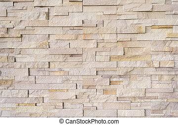 patrón, ladrillo, surgido, moderno, pared