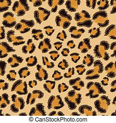 patrón, leopardo, seamless