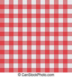 patrón, mantel, vector, picnic