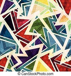 patrón, miedoso, geométrico, seamless