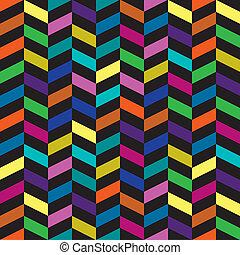 patrón, moda, retro, colorido