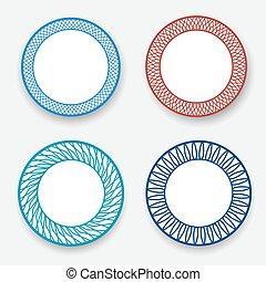 patrón, moderno, plato, blanco, coreano, vacío