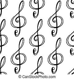 patrón, negro, contorno, plano de fondo, seamless
