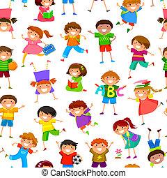 patrón, niños, caricatura
