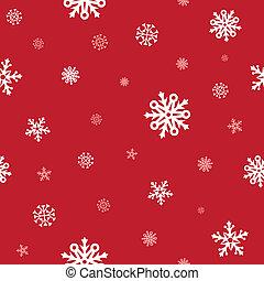 patrón, nieve, rojo