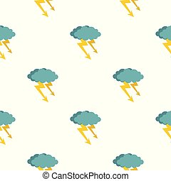 patrón, nube, tormenta, seamless