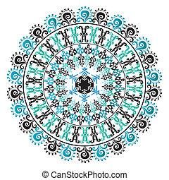 patrón, oriental, 07, ornamentos