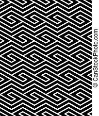 patrón, ornament., seamless, simétrico, rho, geométrico, contraste