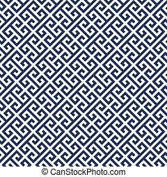 patrón, -, ornamento, diagonal, griego, plano de fondo, ...