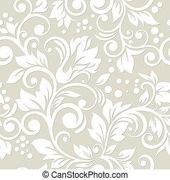 patrón, ornamento,  seamless, hojas,  floral, flores