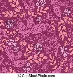 patrón, otoño, seamless, plano de fondo, jardín