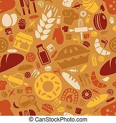 patrón, panadería, seamless