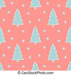 patrón, papel pintado, navidad