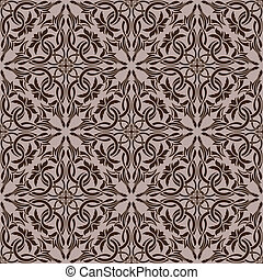 patrón, papel pintado, seamless, marrón