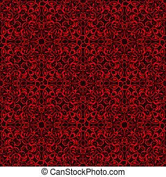 patrón, papel pintado, seamless, rojo
