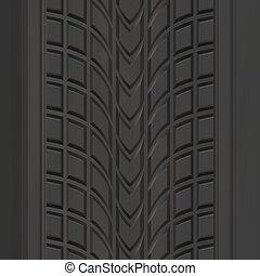 patrón, pisada, neumático