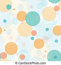 patrón, plano de fondo, círculos, resumen, seamless, tela