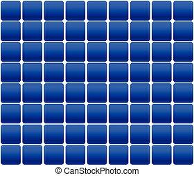 patrón, repeatable, panel solar