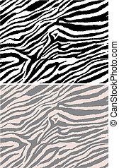 patrón, repetido, seamless, zebra