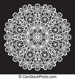 patrón, resumen, círculo, encaje