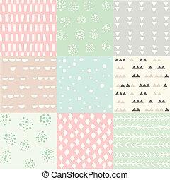 patrón, resumen, conjunto, seamless, colorido