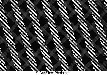patrón, resumen, generar, computadora, negro, blanco,...