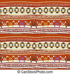 patrón, resumen, mexicano, seamless, textura