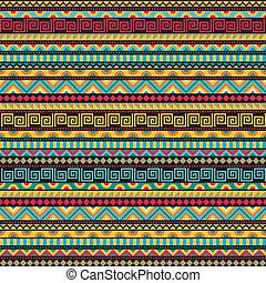 patrón, resumen, seamless, étnico