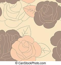 patrón, resumen, seamless, floral