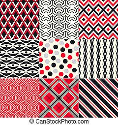 patrón, resumen, seamless, geométrico