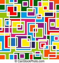 patrón, resumen, seamless, mosaico