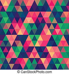 patrón, resumen, triángulo, pixel