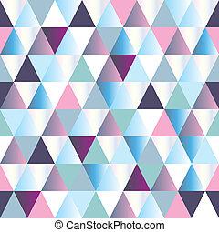patrón, resumen, triángulo, seamless, diamantes