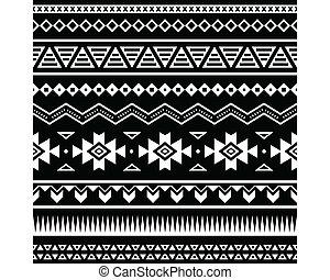 patrón, seamless, azteca