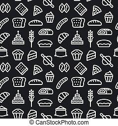 patrón, seamless, bread