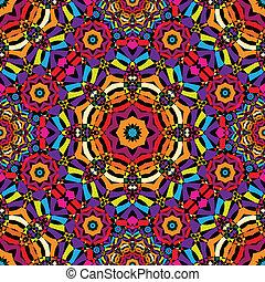 patrón, seamless, calidoscopio