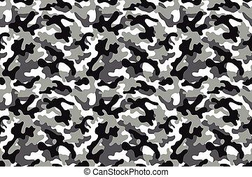 patrón, seamless, camuflaje