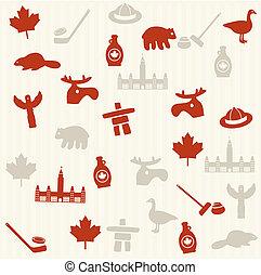 patrón, seamless, canadiense