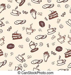 patrón, seamless, coffe