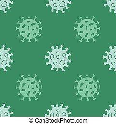 patrón, seamless, coronavirus