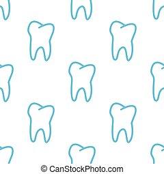 patrón, seamless, diente