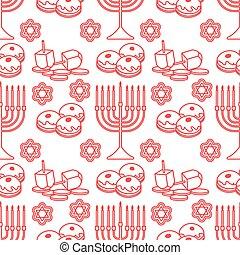 patrón, seamless, feriado, judío, hanukkah, vector