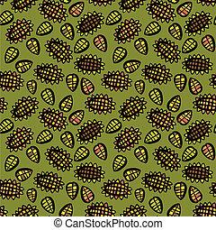 patrón, seamless, girasol