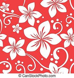 patrón, seamless, hawaiano, navidad