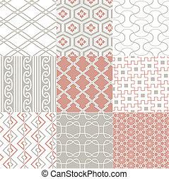 patrón, seamless, japonés