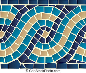 patrón, seamless, mosaico, onda